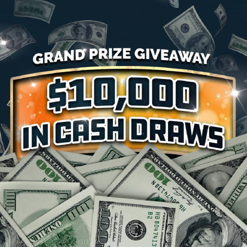 $10,000 GRAND PRIZE GIVEAWAY