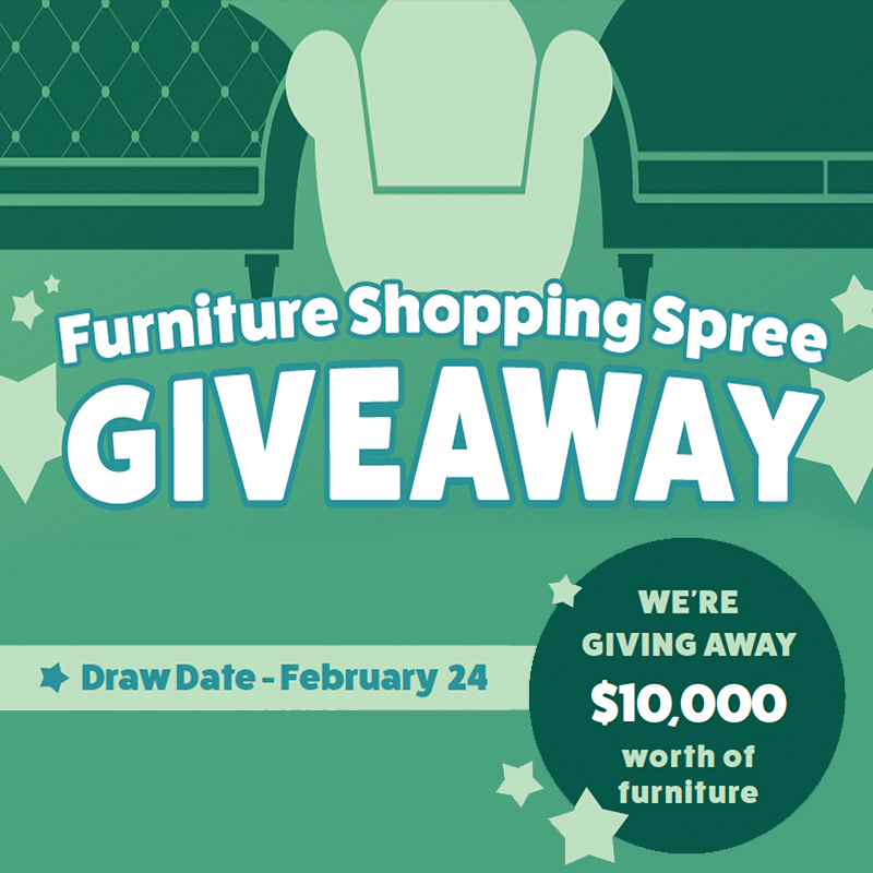 Furniture Shopping Spree Giveaway