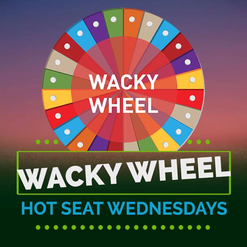 WACKY WHEEL HOT SEAT WEDNESDAYS